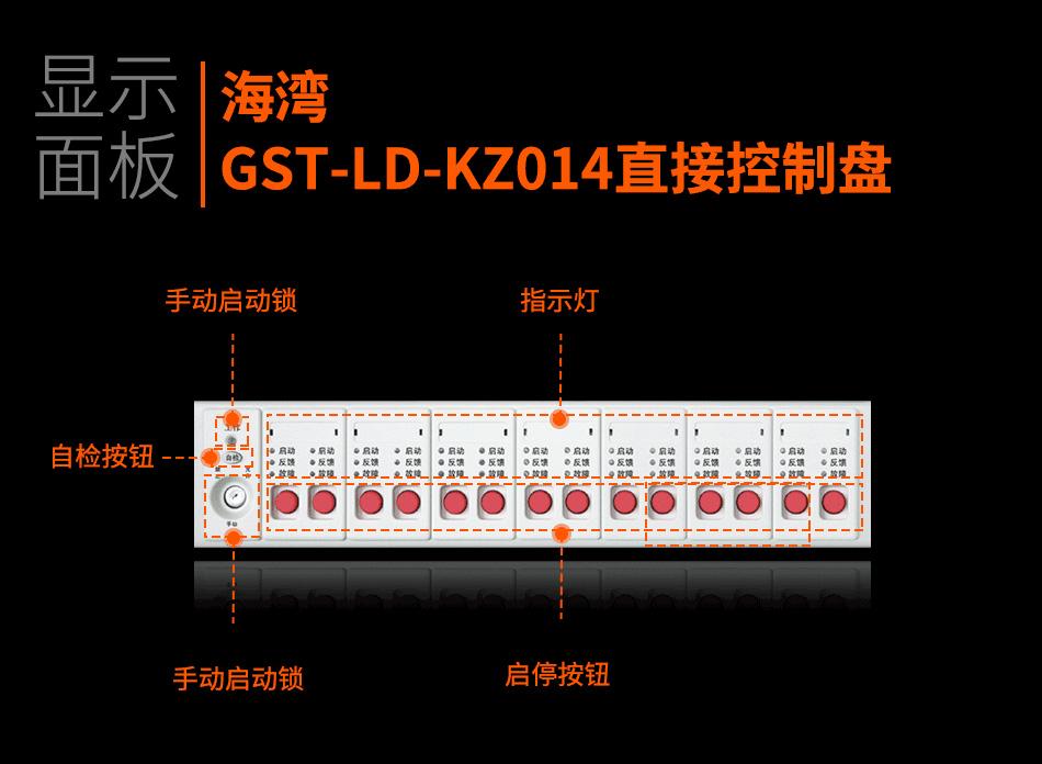 GST-LD-KZ014直接控制盘显示面板