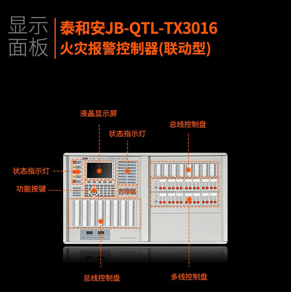 JB-QTL-TX3016A火灾报警控制器(联动型)显示面板
