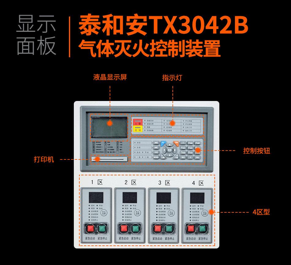 TX3042B气体灭火控制装置显示面板