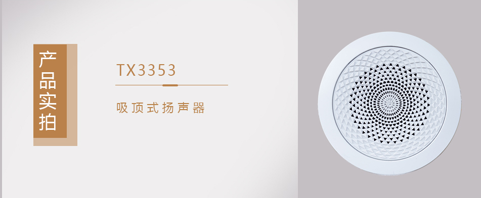 TX3353吸顶式扬声器实拍