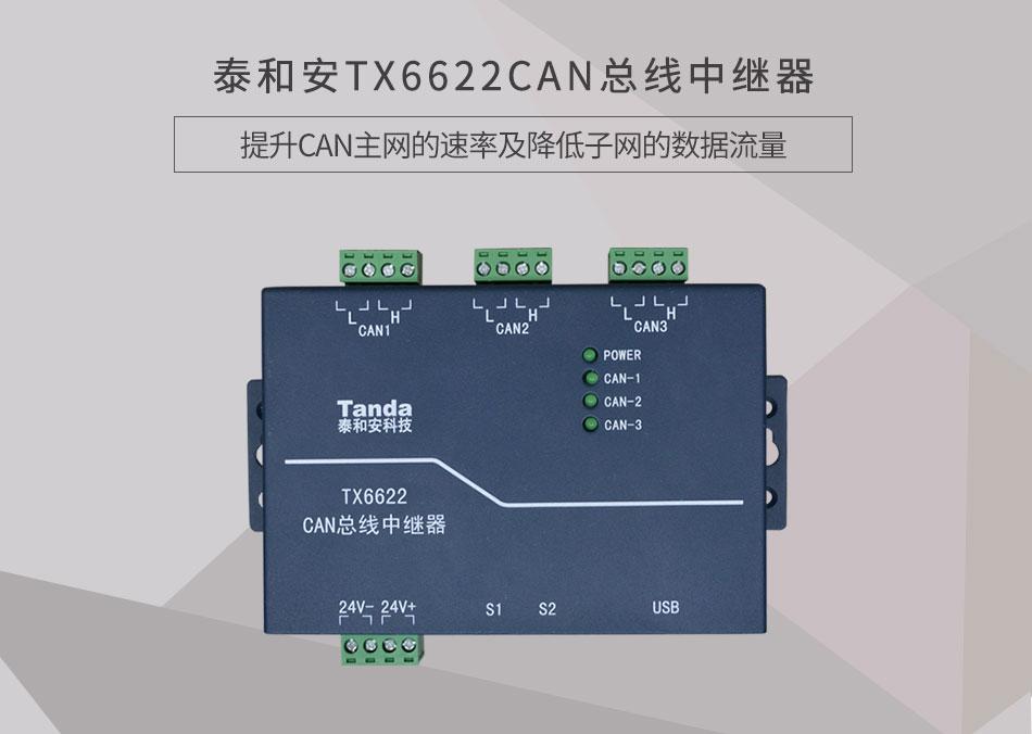 TX6622CAN总线中继器情景展示