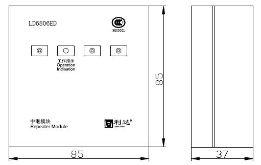 LD6806ED外形结构示意图