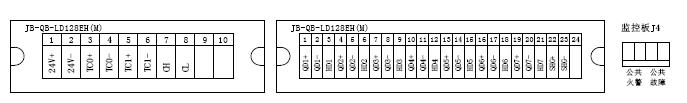 JB-QB-LD128EH(M)火灾报警控制器端子