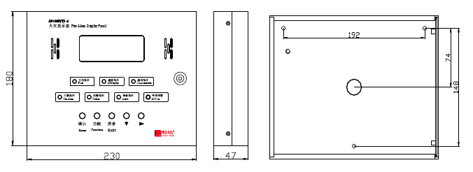 LD128E(T)-A火灾显示盘外形