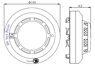 探测器外形示意图