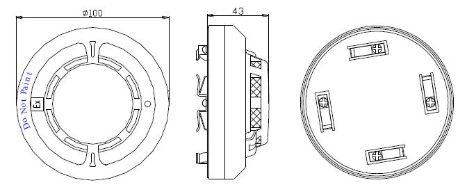 JTF-GOM-GSTN9813(Ex)火灾探测器外形示意图