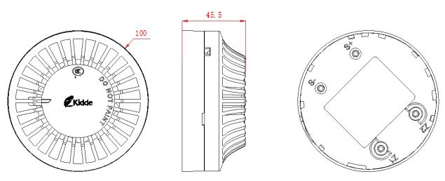 JTY-GDM-GS8010探测器的外形结构示意图