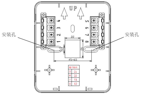 GS8202B紧急启/停按钮端子示意图