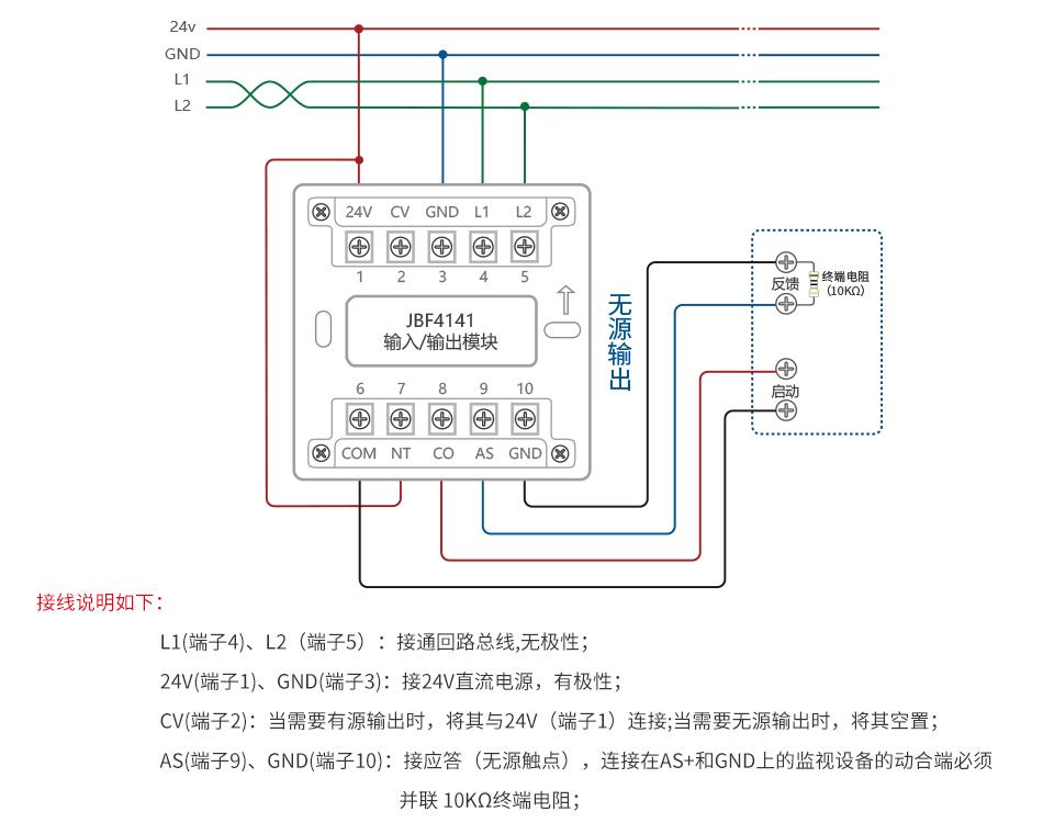 jbf4141输入输出模块安装接线