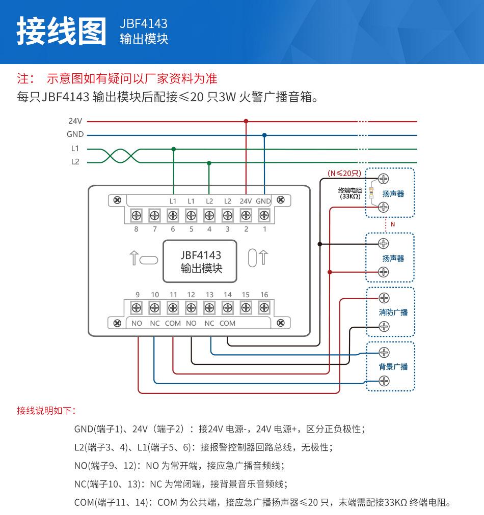 jbf4143输出模块安装接线
