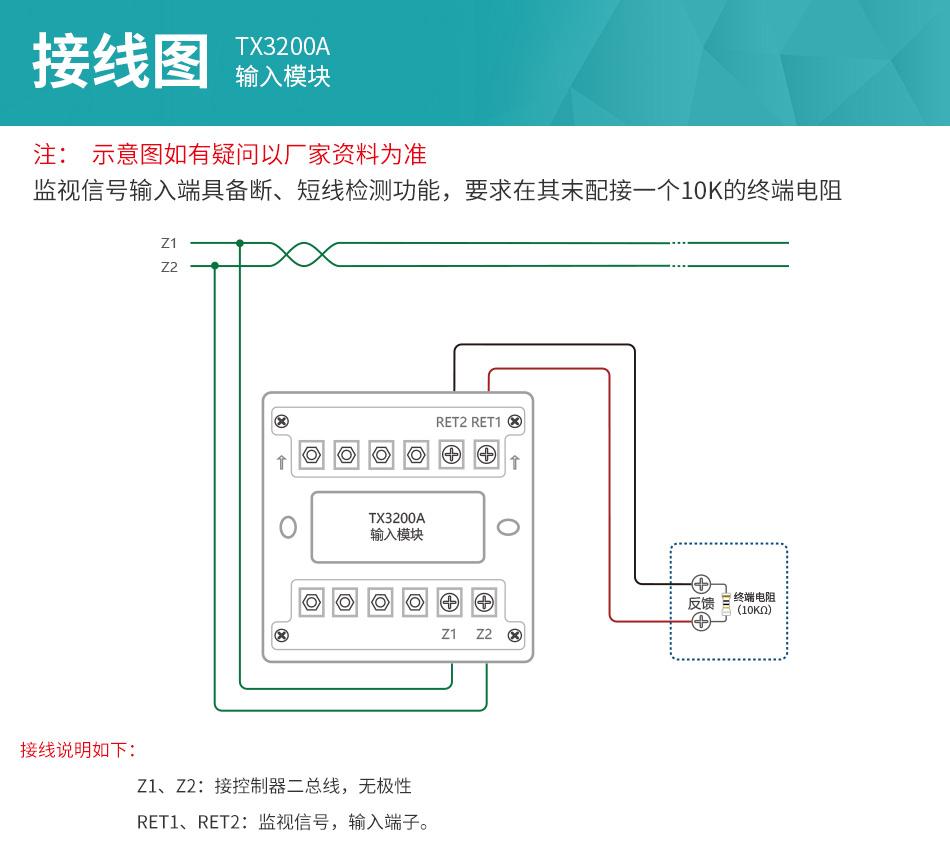 TX3200A输入模块接线说明