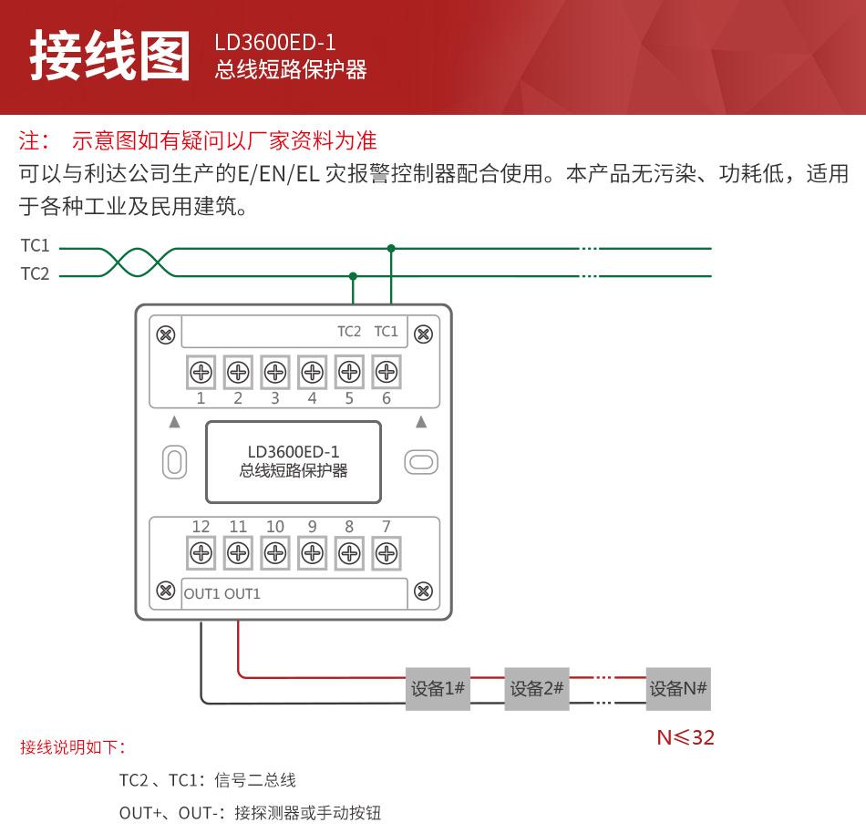 LD3600ED-1总线短路保护器 隔离模块