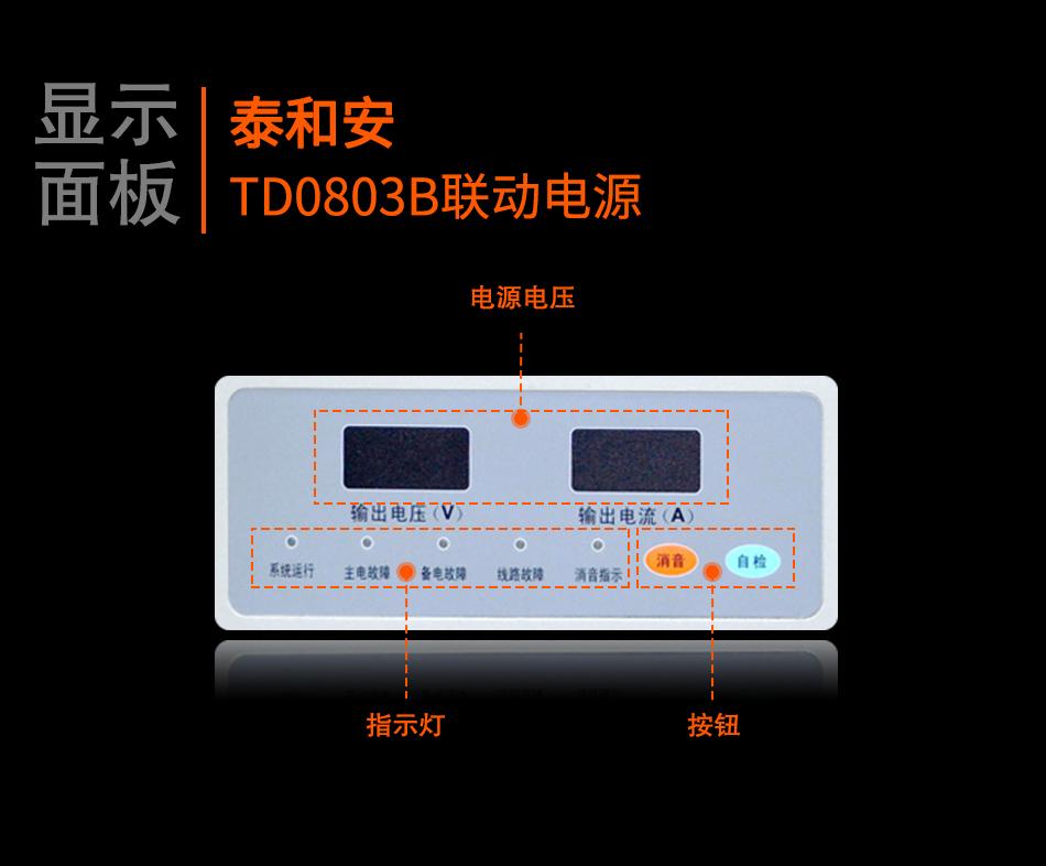 TD0803B联动电源显示面板
