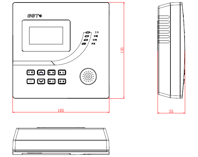 GST-JA2200家用主机外形示意图