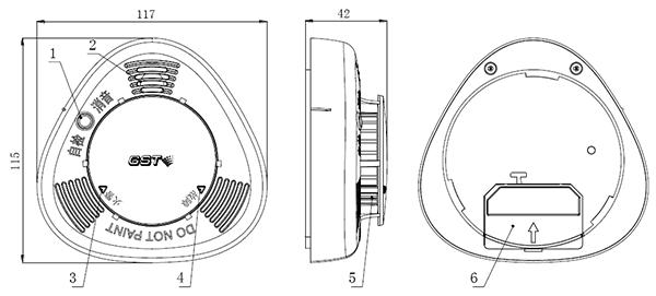 JTY-GD-GSTN101家用感烟火灾探测器结构特征