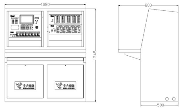JB-TT-JBF-11SF-H火灾报警控制器结构尺寸