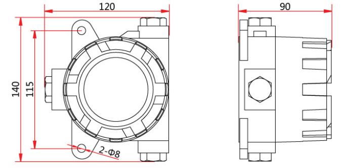Trax33C控制切换模块外形尺寸及安装尺寸