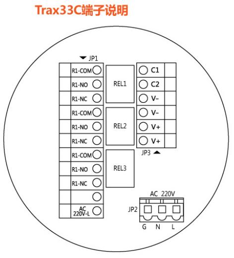 Trax33C控制切换模块端子说明