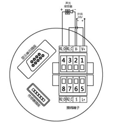 HS102防爆型小声光报警器接线端子图