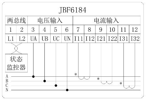 JBF6184三相四线电压/电流信号传感器安装接线