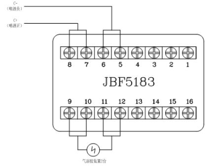 JBF5016气体灭火控制器控制气溶胶气灭装置接线