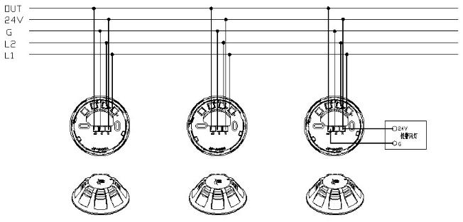 JBF-VB4302A蜂鸣底座接线示意图