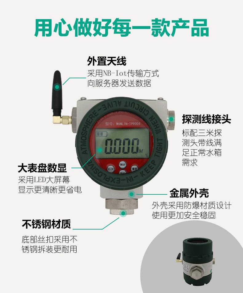 WANLIN-TP9004防爆型无线远程报警数显压力计产品特点