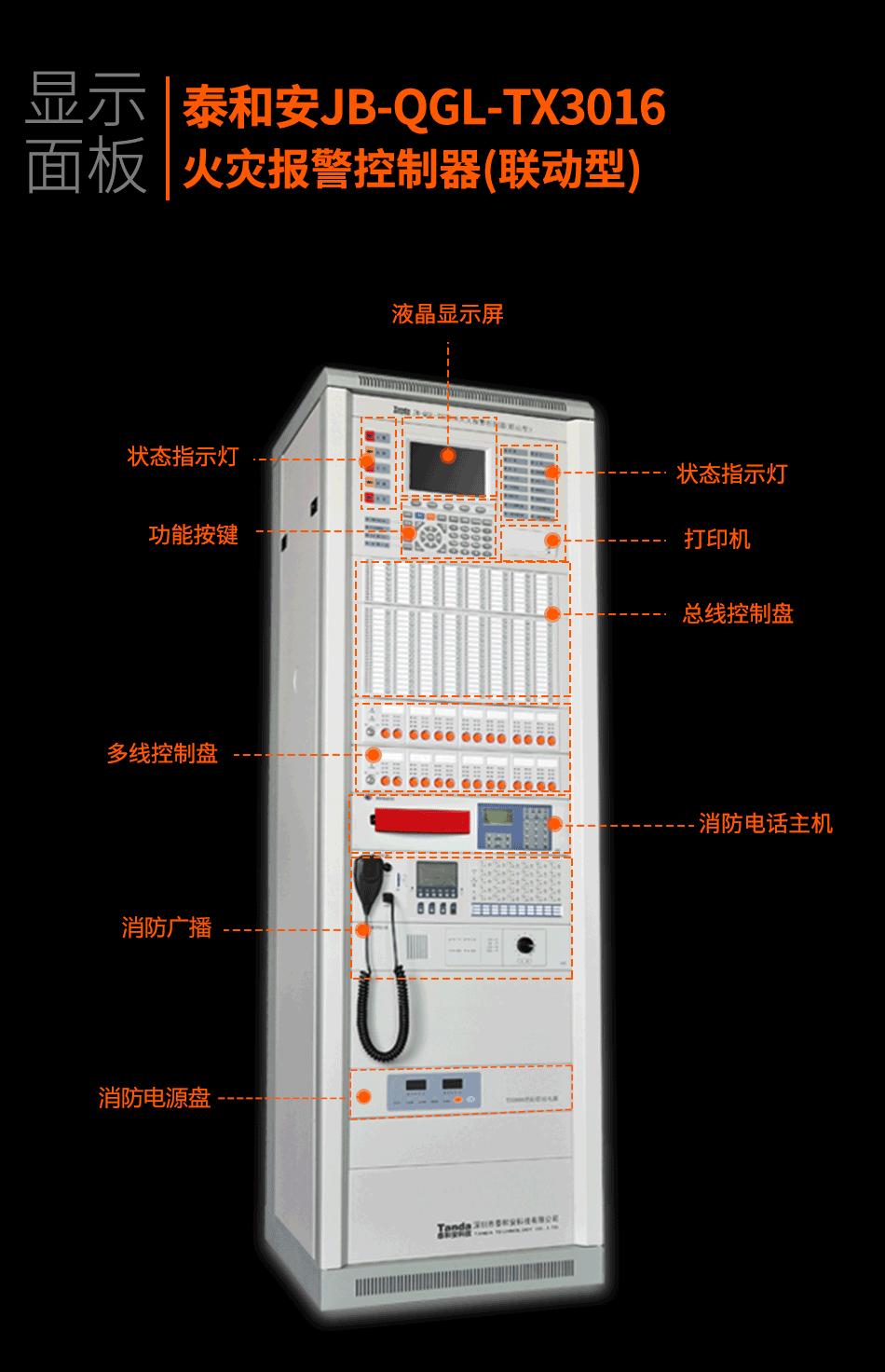 JB-QGL-TX3016A火灾报警控制器(联动型)显示面板