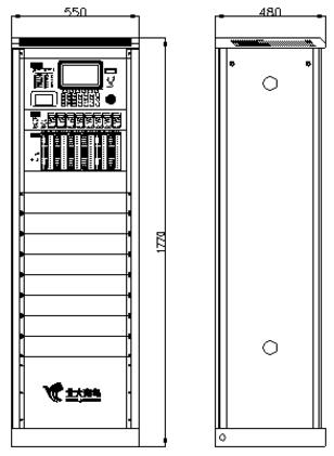 JB-TG-JBF-11SF火灾报警控制器结构及尺寸