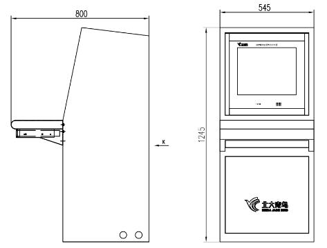 JBF5200消防控制器图形显示装置尺寸图