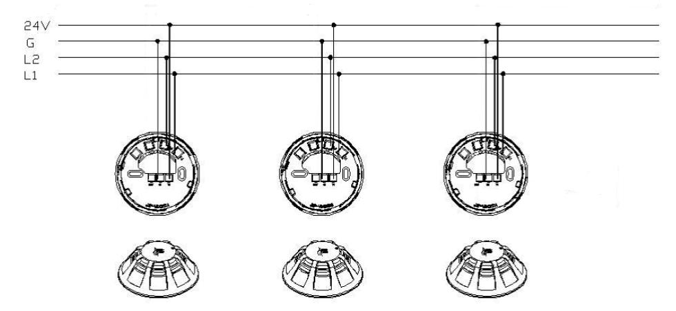 JBF4101-Bp点型光电感烟火灾探测器 带蜂鸣器底座