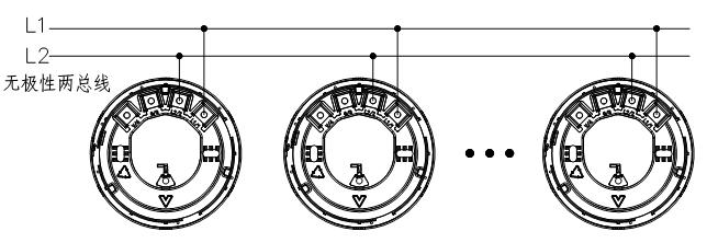 JTY-GD-JBF5100点型光电感烟火灾探测器安装布线