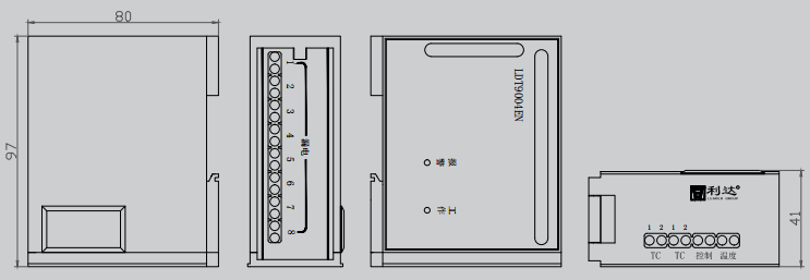 LDT9004EN组合式电气火灾监控探测器尺寸