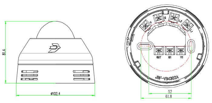 JBF4372L无线声光警报器 LORA声光安装接线