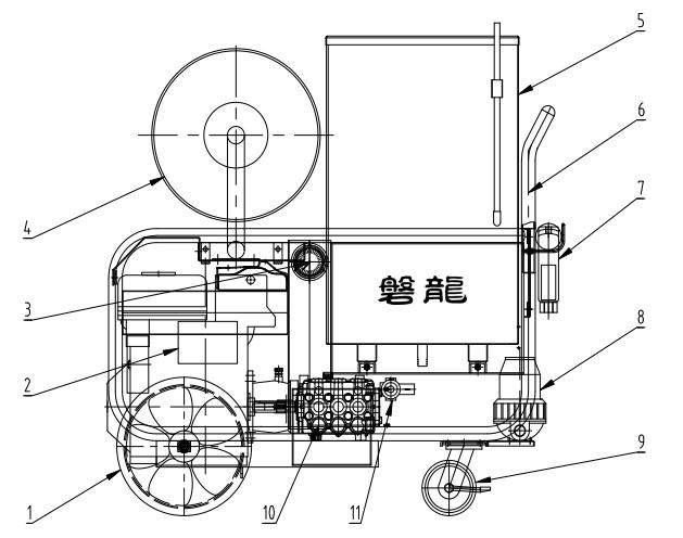 推车式细水雾灭火装置 细水雾枪结构图
