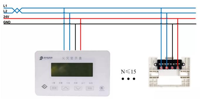 JBF4061火灾显示盘安装接线图