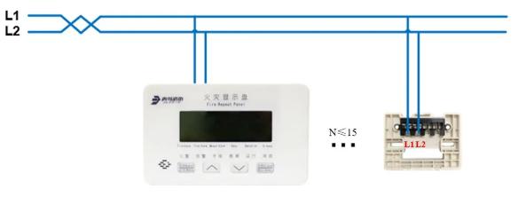 JBF5061火灾显示盘安装接线图
