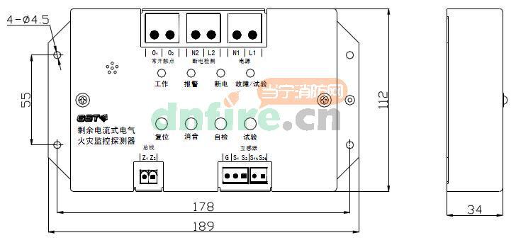 技术特性: 1.工作电压:AC220V 2.工作电流:AC10mA 3.额定动作电流:50mA到1000mA二十级可设(步进50mA) 4.额定不动作电流:额定动作电流的50% 5.输出触点容量:2A/250VAC,2A/30VDC 6.常开触点输出:脉冲输出与持续输出可设 7.常开触点延时输出:0~10秒可设 8.过线电流:50A~1000A 9.