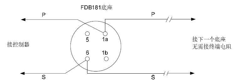 西门子fdt181感温探测器接线图